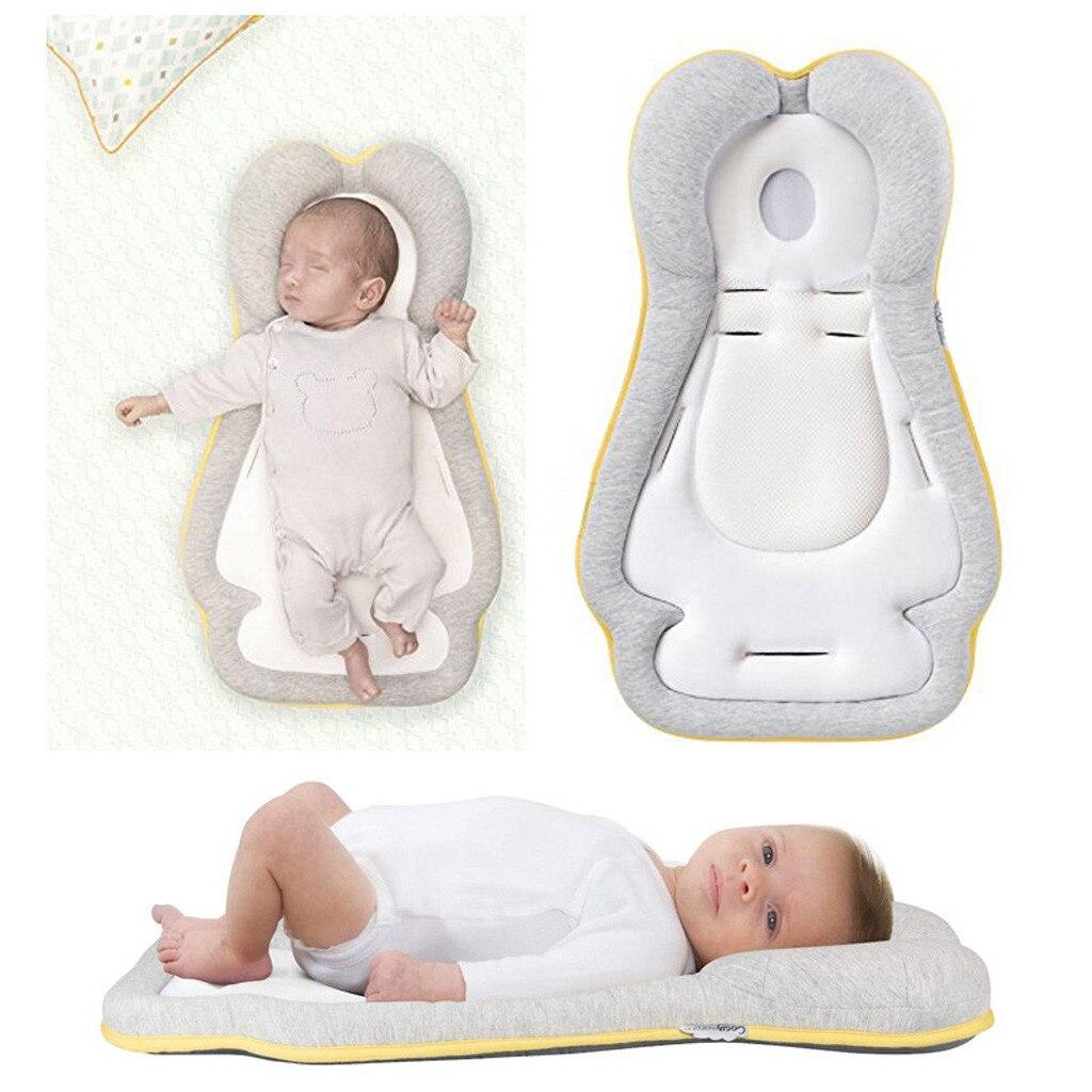 1 Pc Neugeborene Baby Schlaf Positionierung Pad Verhindern Flat Head Form Anti Rolle Kissen Baumwolle Hohe Qualität Baby Kissen SorgfäLtige Berechnung Und Strikte Budgetierung