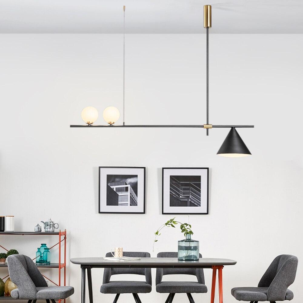 Lumières de Table de piscine pour Table avec 3 abat-jour en métal lampe de billard pour salle de jeu lumière d'île de cuisine pour Restaurant ou salle à manger