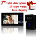 DIYSECUR Wholesale Video Door Phone Door Bell Touch Key 7inch Lcd Video With IR Camera Of Home Entry Intercom