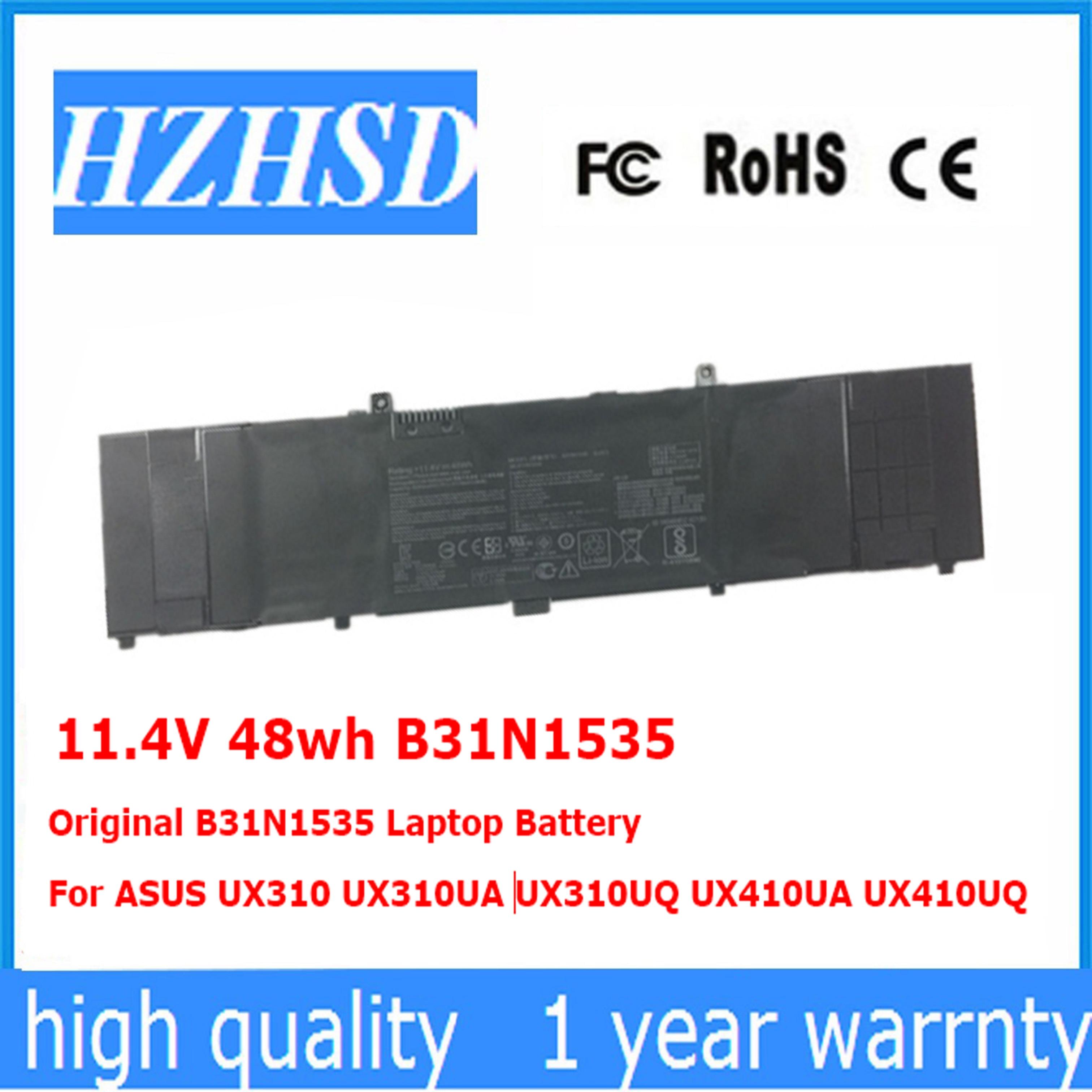 11.4 V 48wh D'origine B31N1535 batterie d'ordinateur portable pour asus UX310 UX310UA UX310UQ UX410UA UX410UQ