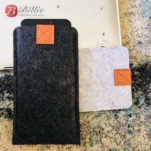 Image 5 - 전화 가방 양모 펠트 봉투 지갑 케이스 가방 아이폰 xs 케이스 커버 휴대 전화 수제 가방 아이폰 xs 최대 6.5 인치 그레이