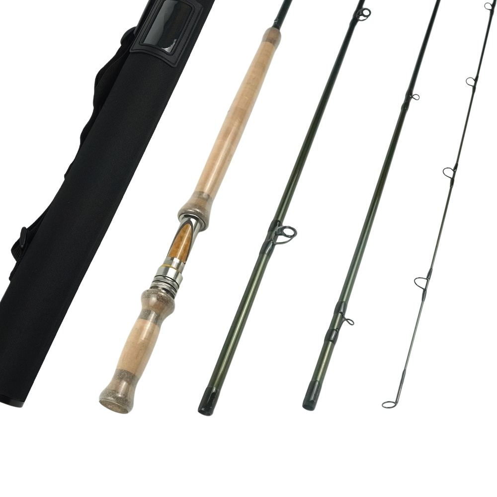 Aventik 11'6'' 4sec Double Hand Switch Rods Fly Rods with Extra Tip Fly fishing Rod Super Light Fly Fishing Rod Fast Action купить