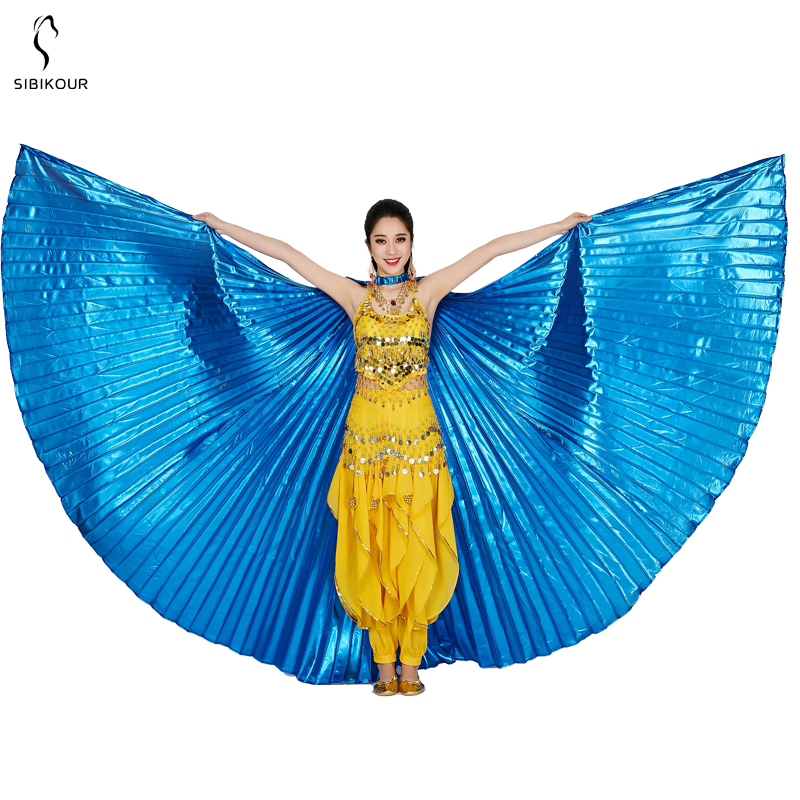 HTB1vc9kaAxz61VjSZFtq6yDSVXa2 - Belly Dance Isis Wings Belly Dance Accessory Bollywood Oriental Egypt Egyptian Wings Costume With Sticks Adult Women Gold