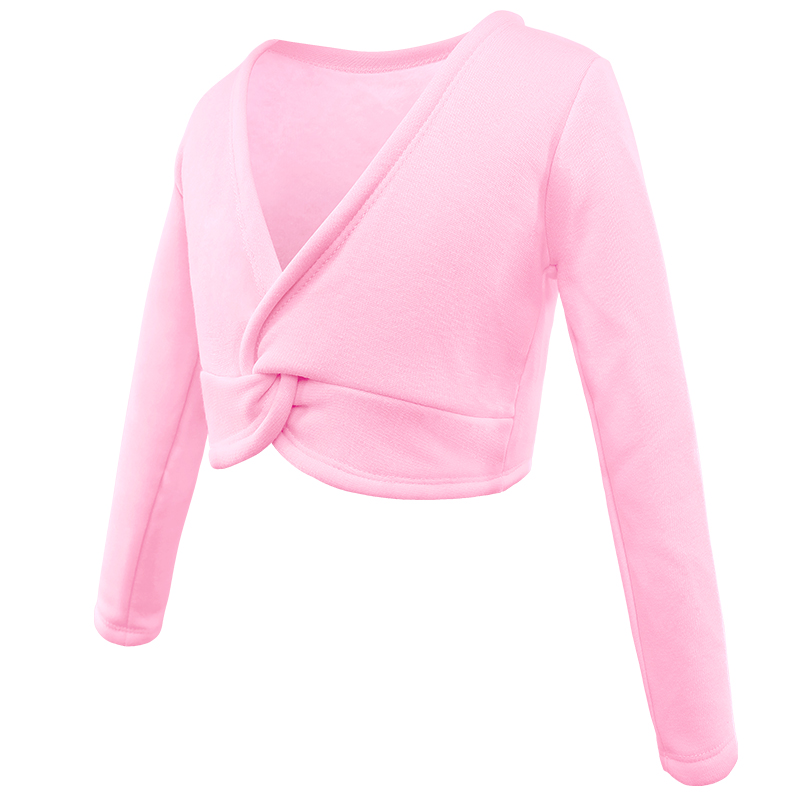 Kids Girls Knit Ballet Gymnastics Wraps Top Cardigan Dance Wear Sweaters Dress