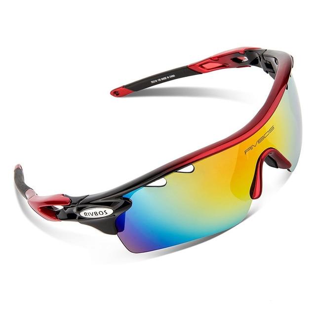 Rivbos Polarisées Sport lunettes de Soleil Pour Hommes Et Femmes Vtt Lunettes  Lunettes Cyclisme Vélo lunettes 08971cf7210a