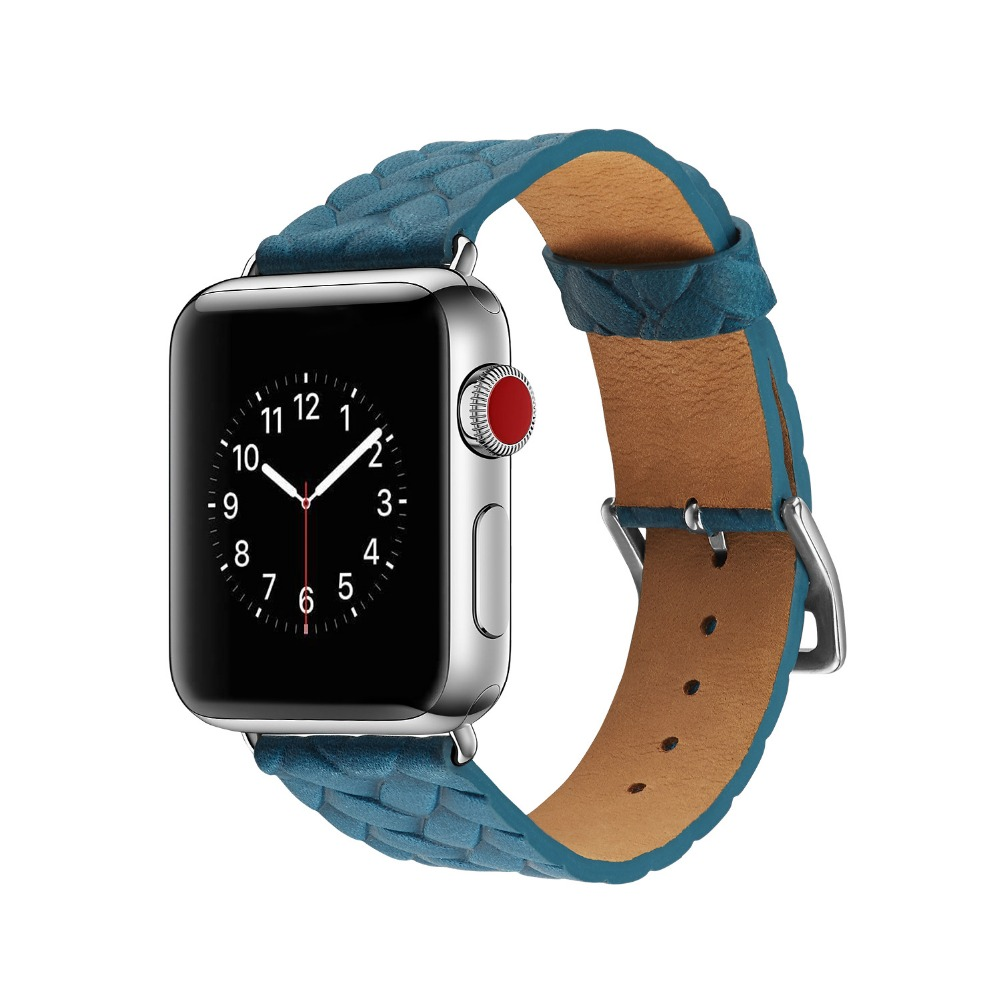 New Style Genuine Leather Watch Band for Apple Watch 38mm ...