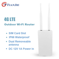 TIANJIE CPE905 High Speed 4g LTE Wifi Router IP66 Waterproof Outdoor Cpe External Dual Antenna Wireless With Sim Card Slot