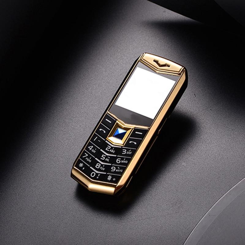 Mini Luxury A88 Phone 1 5 MP3 Camera bluetooth Flashlight children Phone Metal CellPhone