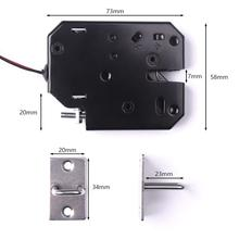 1pc Black 12V 2A 80*60*13mm K01 Electric Lock Electromagnetic Lock For Electronic Locker Smart Door Cabinet Drawer Lock Locks