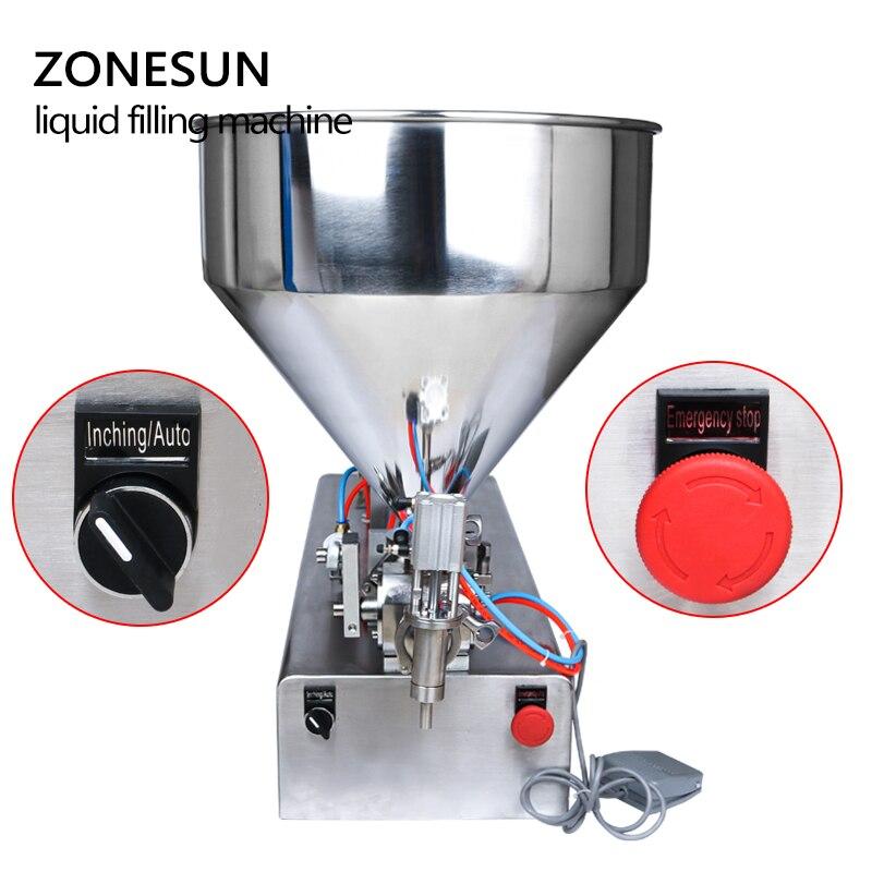 Image 2 - ZONESUN 10 300ml Pneumatic Volumetric Softdrin Liquid Filling Machine Pneumatic Liquid Filler Liquid Honey Soap  bottlemachine machinemachine fillingmachine for -