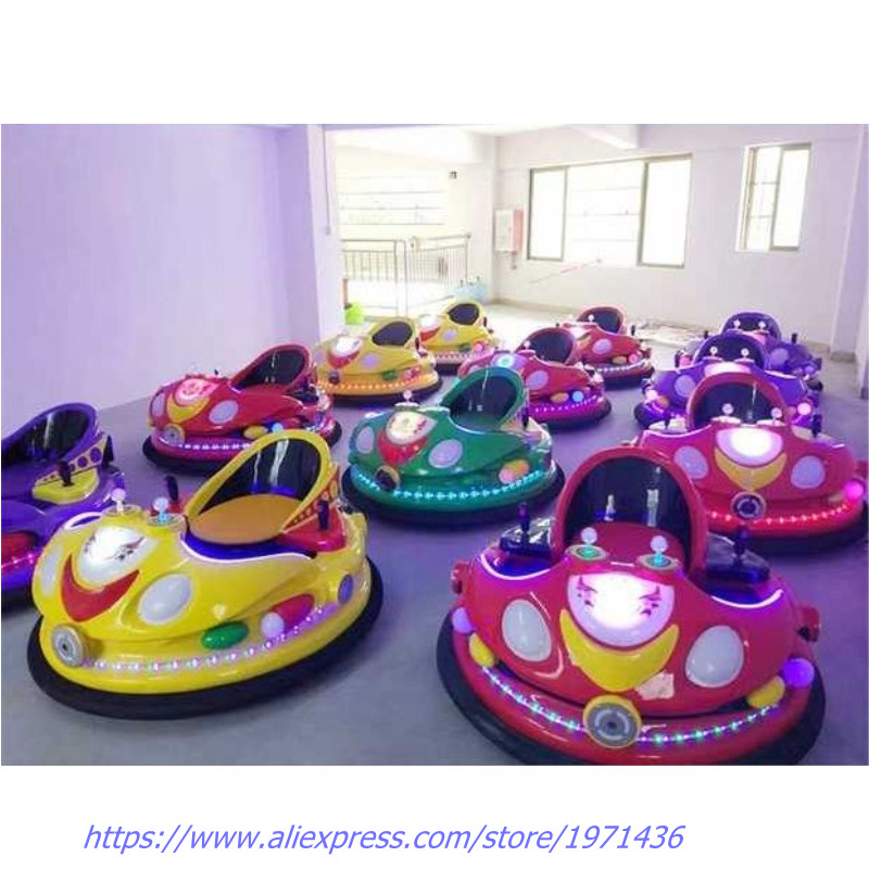 With Colorful Lights Amusement Device Equipment Laser Shooting Combat Collision Bumper Cars For Children Adults