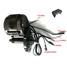 Free shipping 8fun bafang Motor Bbs01b 36v 250w DIY Retrofitting mid drive Kit motor with 6v light&gear sensor connections