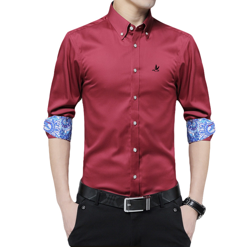 Dudalina Camisa Masculina Shirt Brand Clothing Cotton Reserve Mens Dress Shirt Long Sleeve Slim Male Business Shirts