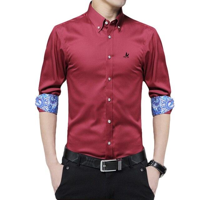ee85ee6a93 Reserva de Camisa Marca Dudalina camisa Masculina Roupas de Algodão Dos Homens  Camisa De Vestido Camisas