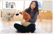 middle cute plush lying dog toy soft brown dog pillow doll gift about 60cm 2611