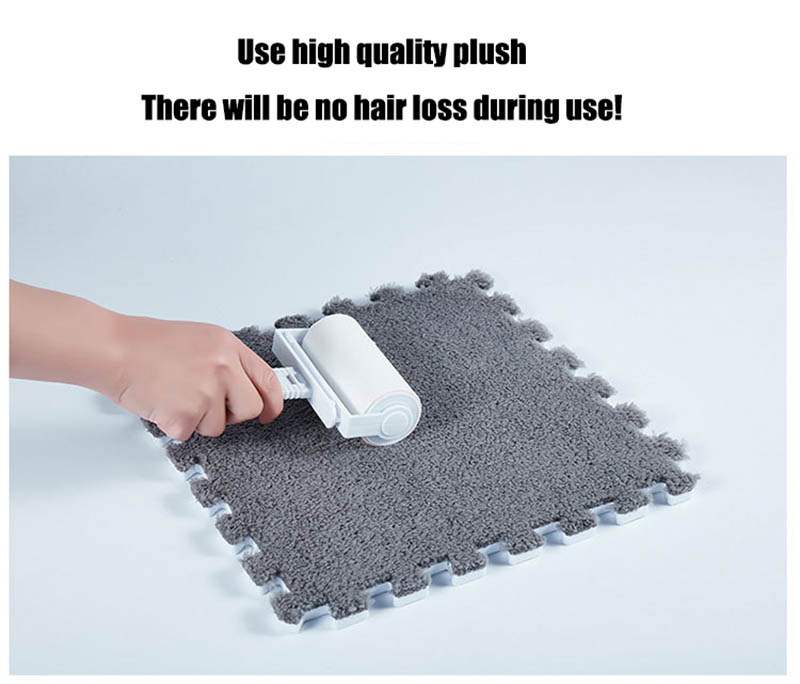 HTB1vcBJCgKTBuNkSne1q6yJoXXa6 10Pcs/1Set 30*30*1cm EVA Plush Puzzle play mats Foam Shaggy Velvet Carpet Decorative Kids Room for Crawling Play Toys 9-Colors