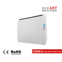 1500W Slim Electric Panel Radiator Wall Mounted Heater Timer Thermostat