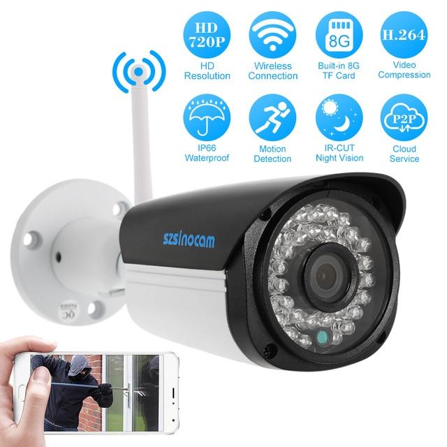 US $42 99 26% OFF|Szsinocam Wireless IP Camera Outdoor 720P 1 0MP CCTV  Security Video Network Surveillance IP Camera Wifi Waterproof Night  Vision-in