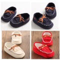 100% Handmade Baby Moccasins Baby boys Shoes infant Lace Up PU Leather Soft Sole baby shoes perwalkers leisure shoes