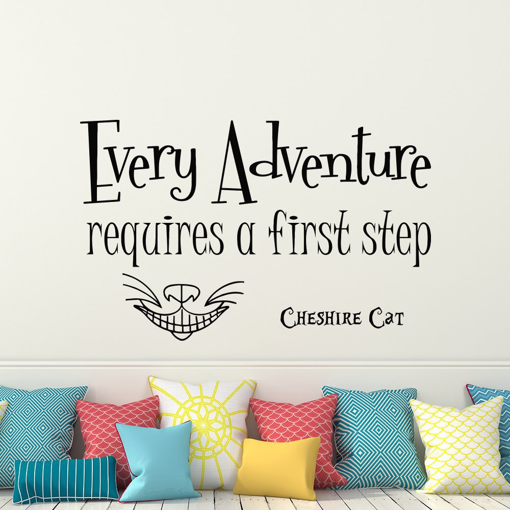 Removable Wallpaper Home Decor Alice In Wonderland Quote Wall