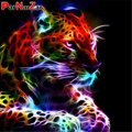 ParNarZar Diamond Painting Colorful Tiger DIY Diamond Embroidery Animals Cross Stitch Decoration Full Square/Round Drill