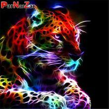 ParNarZar Diamond Painting Colorful Tiger DIY Diamond Embroidery Animals Cross Stitch Decoration Full Square/Round Drill