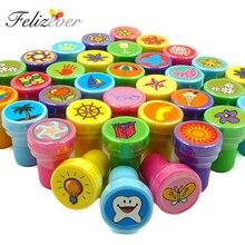 36 個自己インクスタンプ子供誕生日パーティーの好意誕生日プレゼントギフトおもちゃの少年少女クリスマスかごピニャータ充填剤