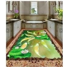 Custom Photo Floor 3D Wallpaper clear river stone Bathroom Floor Mural-3d PVC Wallpaper Self-adhesive Floor Wallpaper-3d цена 2017