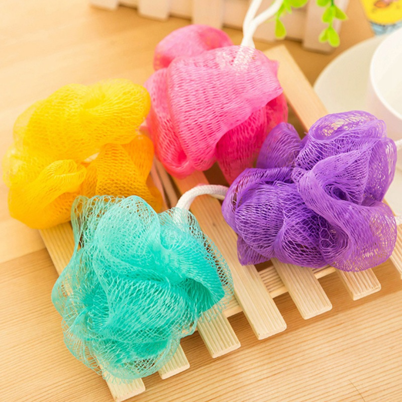 Bath Sponge Tubs Ball Body Loofah Massage Cleaning Towel Scrubber Body Exfoliating Shower Ball Bathroom Supplies Bath Flower in Bath Brushes Sponges Scrubbers from Home Garden
