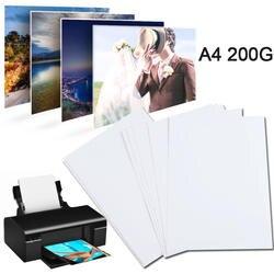 20 листов/упаковка A4 фотобумага глянцевый принтер Фотографическая бумага High-глянцевая бумага для струйного принтера офисные