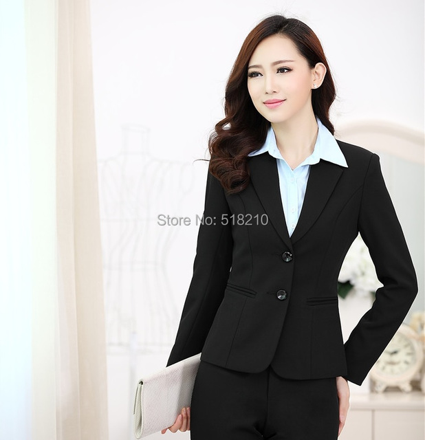 Professional Business Blazers Formal Office Ladies Blazer Coat ...