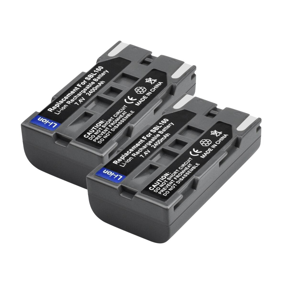 2Packs 7.4V 2400mAh SB L160 Battery for Samsung SCL810