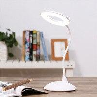 Smart Desk Table Lamp High Capacity LED Book Light Reading Eye Care Lamparas De Mesa Rechargeable