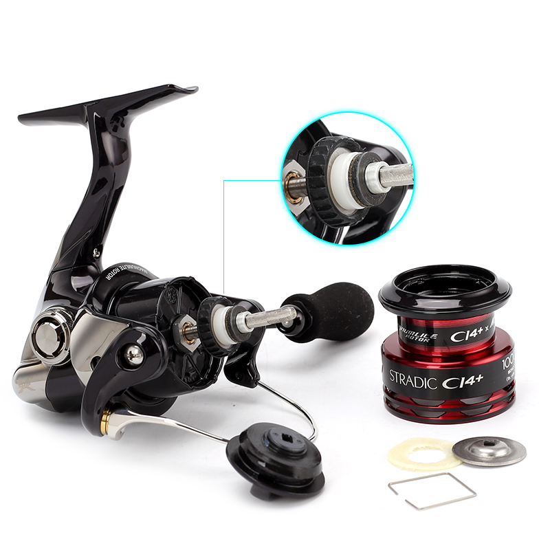 055f8fee9cf 2016 new Original Shimano Stradic CI4+ 1000 FA Spinning Fishing Reel 6  Shielded A RB + 1BB X Ship Gear Bremsystem Front brake-in Fishing Reels  from Sports ...