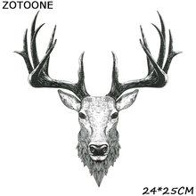 ZOTOONE Iron Patches for Clothing  Diy Patch Cartoon Cow Head Stick-On Heat Transfers Clothes heat transfer stickers