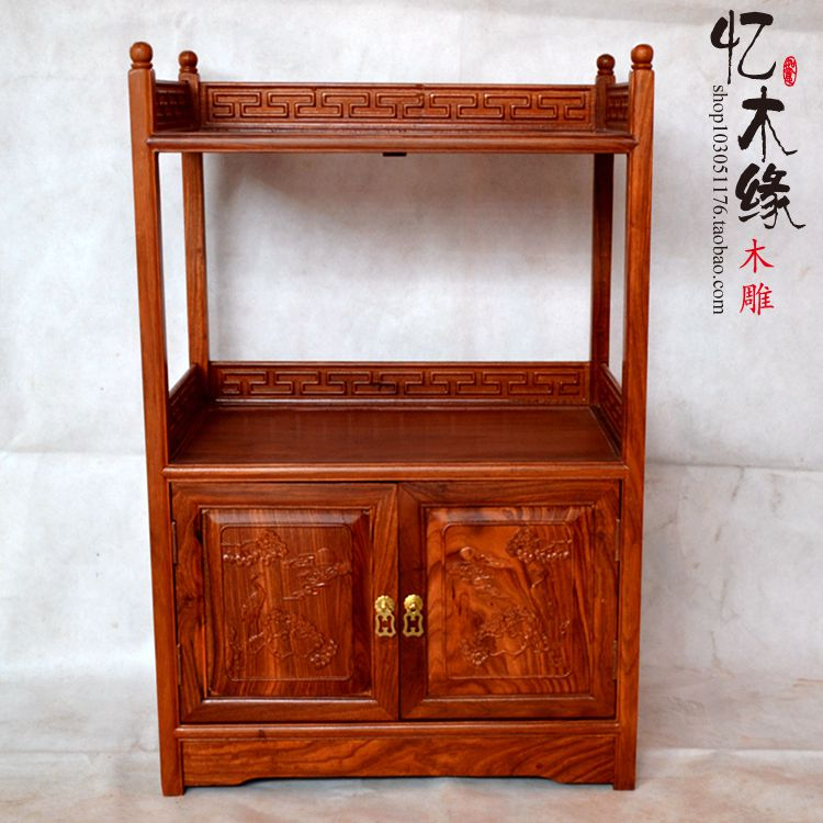 Mahogany furniture rosewood tea cabinet cupboard cupboard door cabinet wood kitchen cabinet Antique Chinese style цена