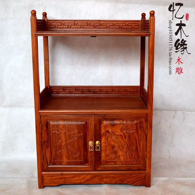 Mahogany Furniture Rosewood Tea Cabinet Cupboard Cupboard Door Cabinet Wood  Kitchen Cabinet Antique Chinese Style