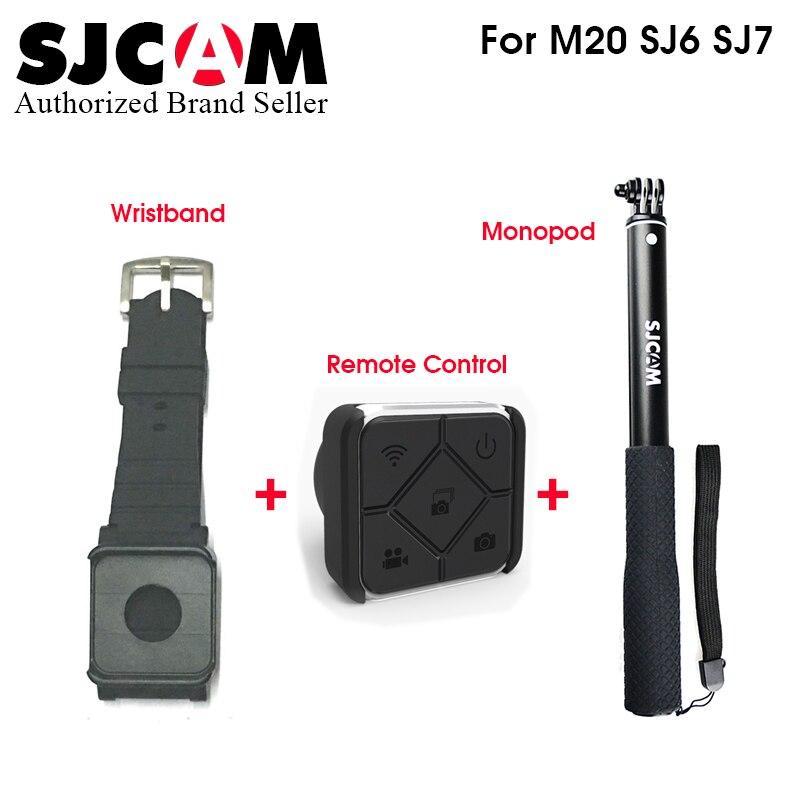 Sjcam sj7 estrella Accesorios Control remoto reloj WiFi banda monopod para M20 sj6 leyenda sj7 estrella sj360 deportes Cámara sjcam