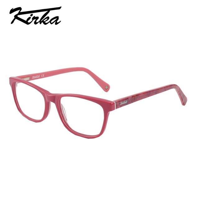 bacb632b57c Kirka Acetate kids Eyeglasses Frame Cute Designer Optical Myopia Glasses  Brand Safety Glasses Frame for Children 2-13 years old