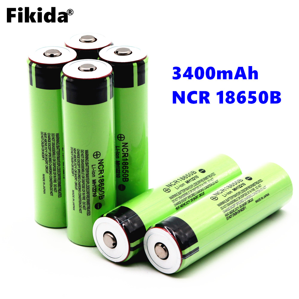 все цены на High capacity 18650 Battery 3400mAh 3.7V NCR18650B For Panasonic Electric toys Rechargeable Lithium Ion Battery (NO PCB) онлайн