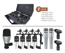 7kit 7-piece Drum Mic Set In One Box + Portable Case for musical instrument jazz band condenser microphones recording