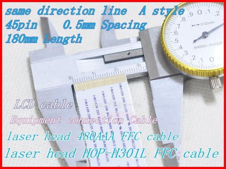 0,5mm Abstand + 180mm Länge + 45pin A/elbe Richtung Linie Weicher Draht Khm-480aaa Hop-h301l Flexible Flache Kabel 45 P * 0.5a * 20 Cm