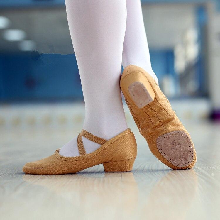 1 Pair Women Belly Dance Shoes Bling Bling Sequine Ballet ... |Practice Ballet Shoes