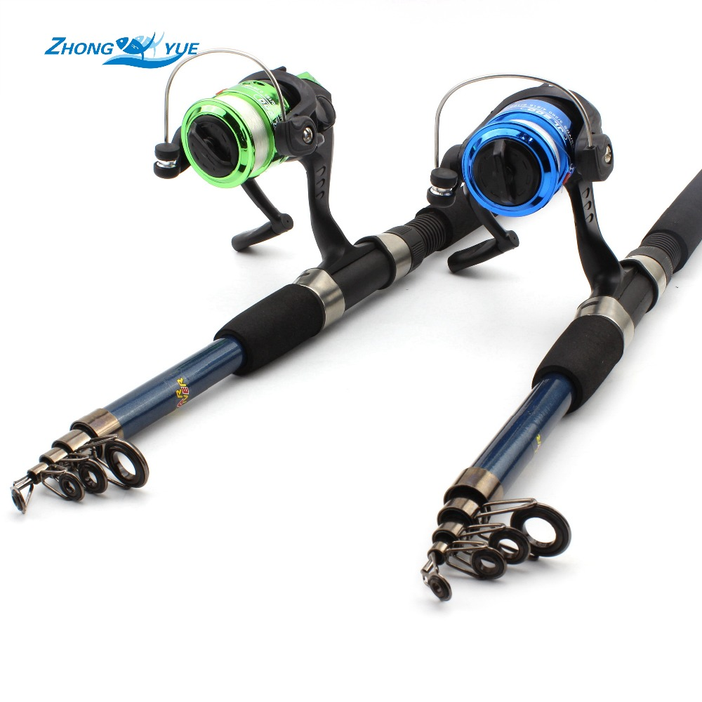 2016new fishing reel and and rod set telescopic fishing for Fishing rod set