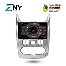 4 ГБ 9 «HD Android 8,0 стерео для Renault Duster Dacia Logan Sandero Авто Радио FM gps навигации wi fi резервного копирования камера без DVD