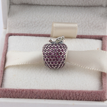 ZMZY Full Crystal Original 925 Silver Charms Teach Apple CZ Beads for Pandora Bracelet Pendant Jewelry Gift