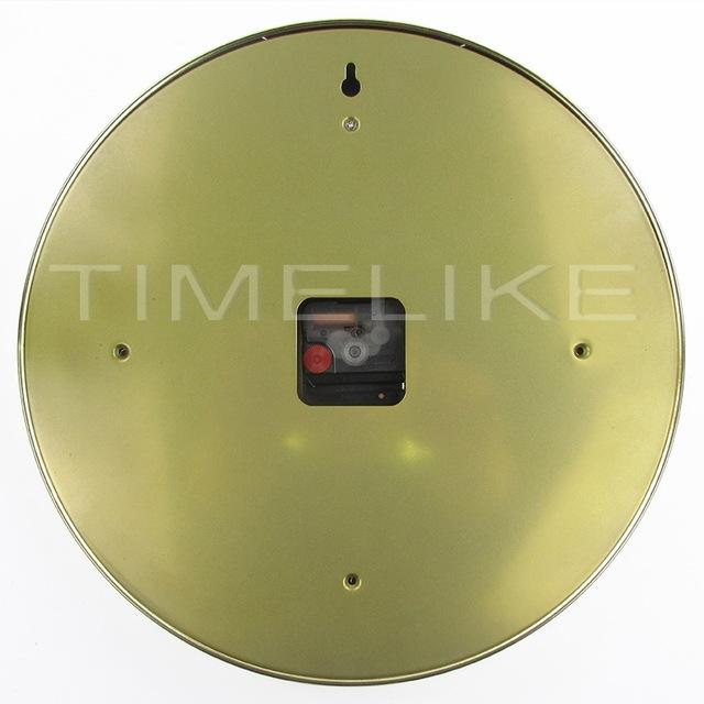 Hot Selling Metal Wall Clock Luxury Design Watch Shape Stainless Steel Clock Duvar Saati Reloj De Pared Horloge Murale Wandklok