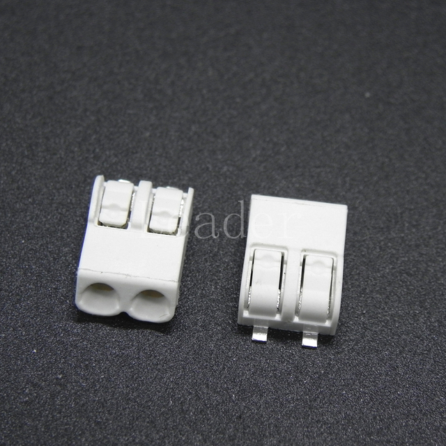 500 teile/los 2 pin LED SMD Verdrahtung Terminal Block, PCB Wire ...