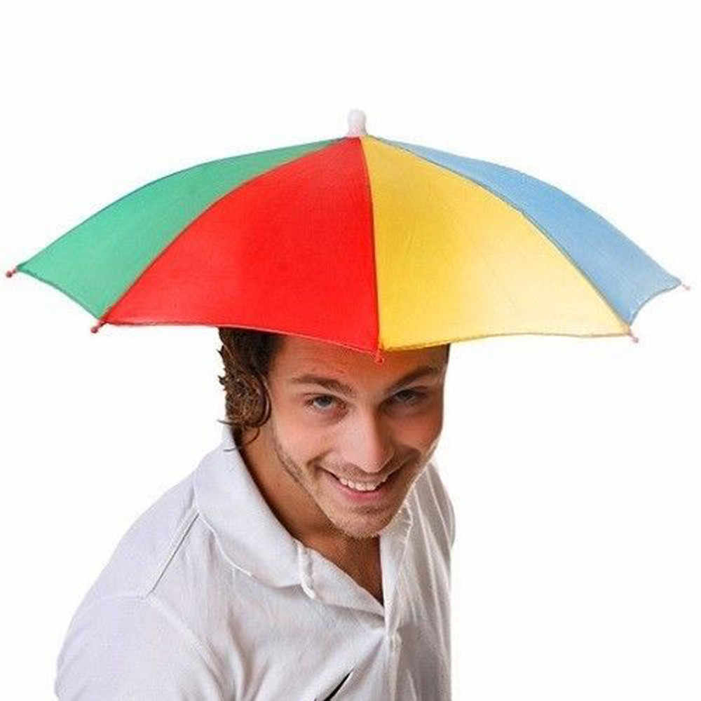 Novedad plegable paraguas sol sombrero Golf pesca Camping vestido de lujo Multicolor al aire libre gorra de pesca gorras de béisbol para bebés