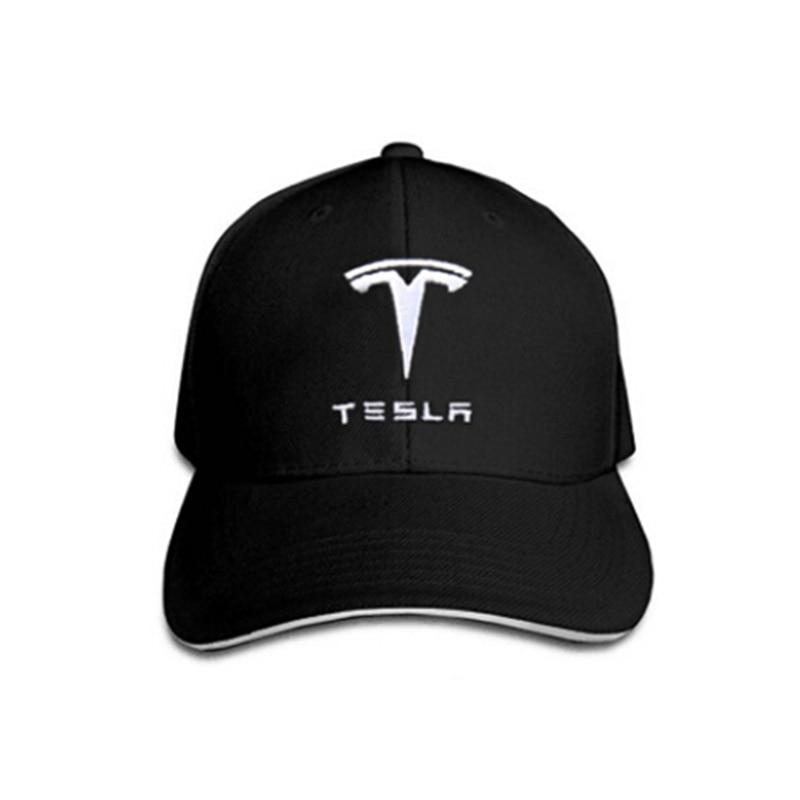 Adjustable Baseball Hat Fashion Sunshade Cap With Tesla Logo Black Sport Hat For Tesla Model S X Universal For Men Women